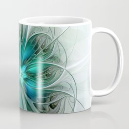 Abstract With Blue, Fractal Art Coffee Mug