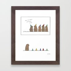 Groundhog Surprise Party  Framed Art Print