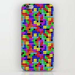Tetris Inspired Retro Gaming Colourful Squares iPhone Skin