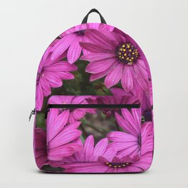 A Crowd Of Pink Purple Daisies Backpack