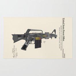 AR-15 Semi-Automatic Rifle Patent Rug