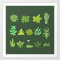 succulents Art Prints featuring Succulents by Anna Alekseeva kostolom3000