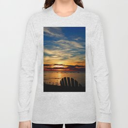 Peace and Relaxation at the Sea shore Long Sleeve T-shirt