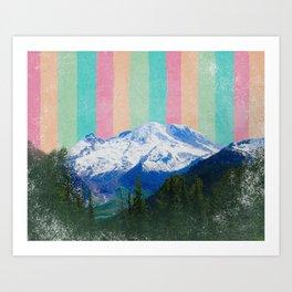 Mountain Rainbow Love Art Print