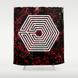 OVERDOSE floral Shower Curtain