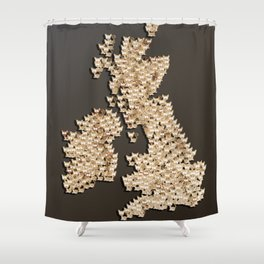 CATography - United Kingdom and Ireland Shower Curtain