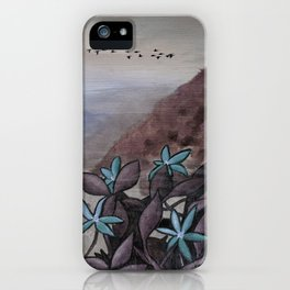over the hills iPhone Case
