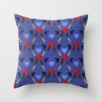 agent carter Throw Pillows featuring Agent Peggy Carter: Spying in Style by semisweetshadow