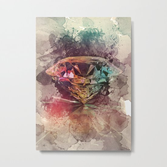 diamond rainbow Metal Print