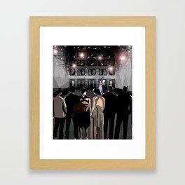 Terrace Lights Framed Art Print
