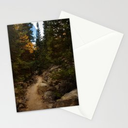 Mountain Path in Autumn Stationery Cards