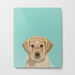 Labrador puppy pet portrait wall art and gifts for dog breed lovers Metal Print