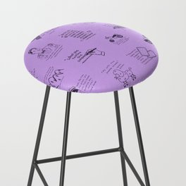 Gilmore Girls Quotes in Purple Bar Stool
