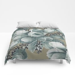 Spring Tulips Neutral  Comforters