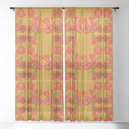 ROMANTIC FLORAL GARDEN Sheer Curtain
