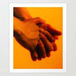 Hands 1 of 2 (Heavy Grain) Art Print