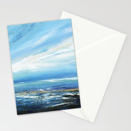Italianmarinepainter: seascape for my first scarf , landscape , vision of sea, my abstract seascape Stationery Cards