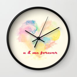 Valentines Day Special Love | u & me forever Wall Clock