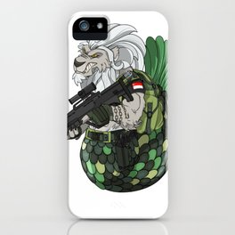 Mermaid and Lion Singapore Navy Gift iPhone Case