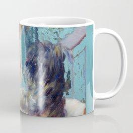renoir girl and dog teal Coffee Mug
