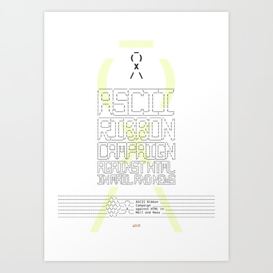 ASCII Ribbon Campaign against HTML in Mail and News – White by peterschildwaechter