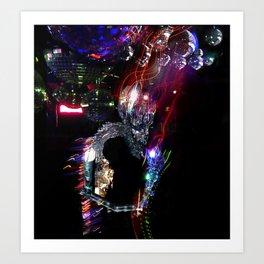 Disco Monster Art Print