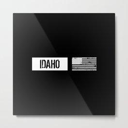 US Flag: Idaho Metal Print
