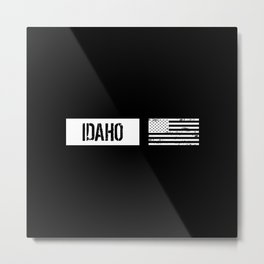 US Flag: Idaho Metal Print