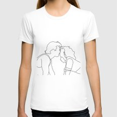Dirty Dancing // Johnny and Baby Womens Fitted Tee MEDIUM White