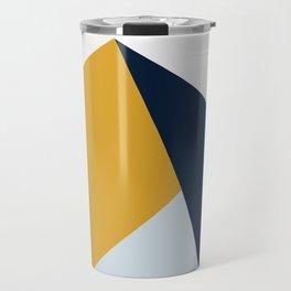 Modern Vintage Minimal Inspired Geometric Colorfield Art Print Travel Mug
