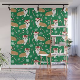 Corgi christmas welsh holiday gift for dog breed dog person corgi lovers christmas gifts Wall Mural