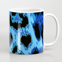 Blue Leopard Spots Coffee Mug