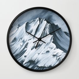 Grey Mountain Wall Clock