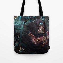 Undertaker Yorick Splash Art Wallpaper Background Official Art Artwork League of Legends lol Tote Bag