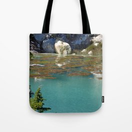 Clear Pond at Lassen Volcanic National Park Tote Bag