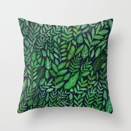 All the Greens Throw Pillow