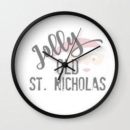 Jolly Old St. Nicholas Wall Clock