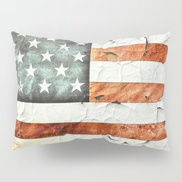 Painted Stars And Stripes Pillow Sham