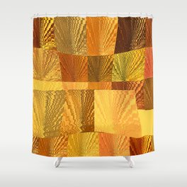 Abstract Digital Artwork Golden State Shower Curtain