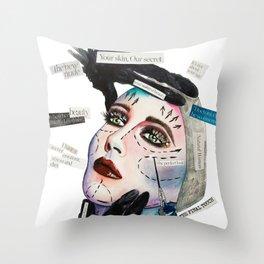 Fake Reality Throw Pillow