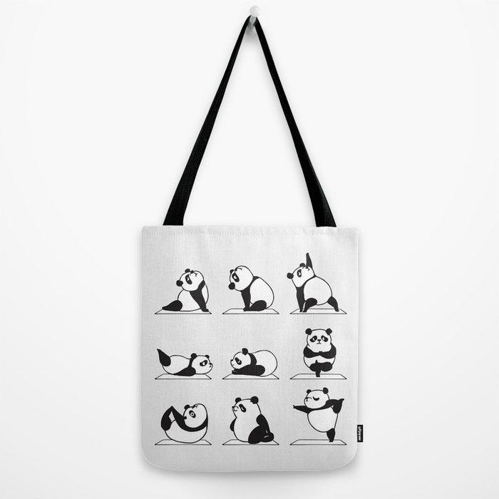Panda Yoga Tote Bag