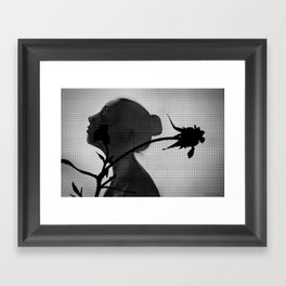 a flower's silhouette  Framed Art Print