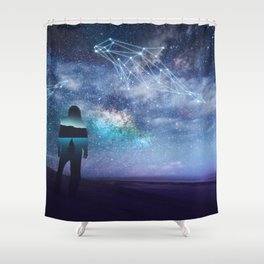 Constellation of the Dolphin by GEN Z Shower Curtain