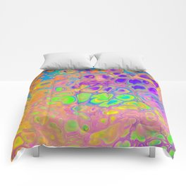 Psychedelic Cells Comforters