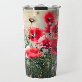 Fresh Poppies In Bloom Travel Mug