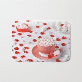 Hot chocolate with marshmallows Bath Mat