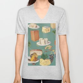 cheese, please Unisex V-Neck