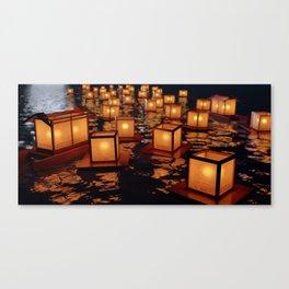 Japanese floating lantern Canvas Print