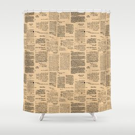 George Washington's Letters // Dark Paper Shower Curtain