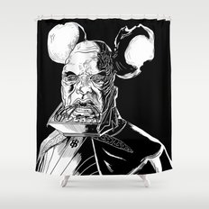Vador Mouse Unmasked Shower Curtain